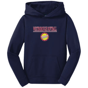Softball - Youth Sport Wick ® Fleece Hooded Pullover 2 Thumbnail